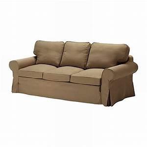 IKEA EKTORP 3 Seat Sofa SLIPCOVER Cover IDEMO LIGHT BROWN