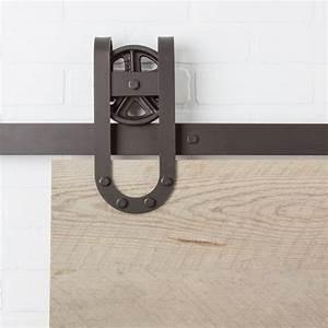 Spoke Wheel Barn Door Hardware Kit 5u0027 16u0027 Track