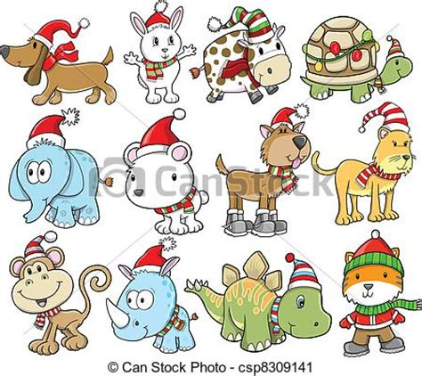 Christmas Animal Clip Art