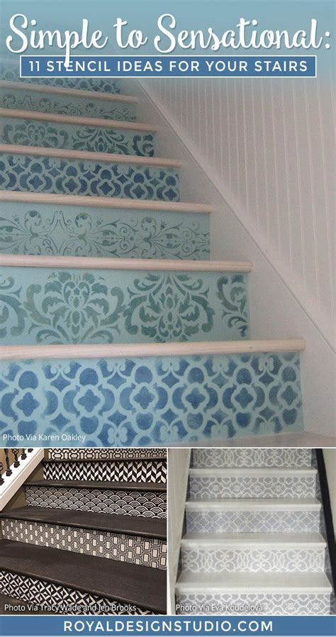 stencil ideas   stairs paint stair risers