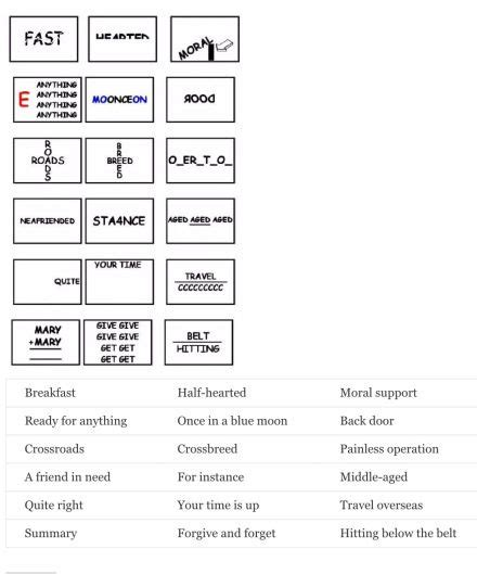 dingbats answers word puzzles brain teasers brain
