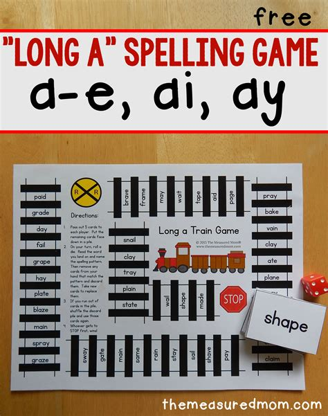 Long A Spelling Patterns  Free Printable Game! The