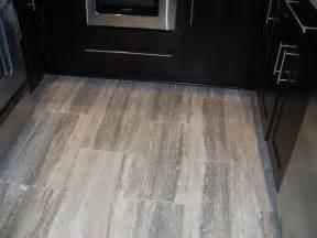 Modern Kitchen with Travertine Floor Tiles