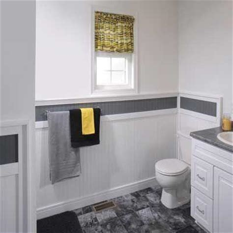 Wainscoting Bathroom Home Depot by Marlite Supreme Wainscot 1 4 In X 16 In X 32 In White