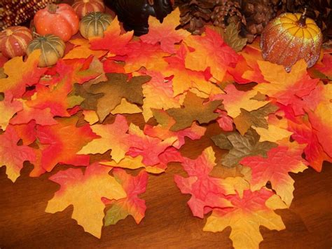 fall silk leaves wedding favor autumn maple leaf