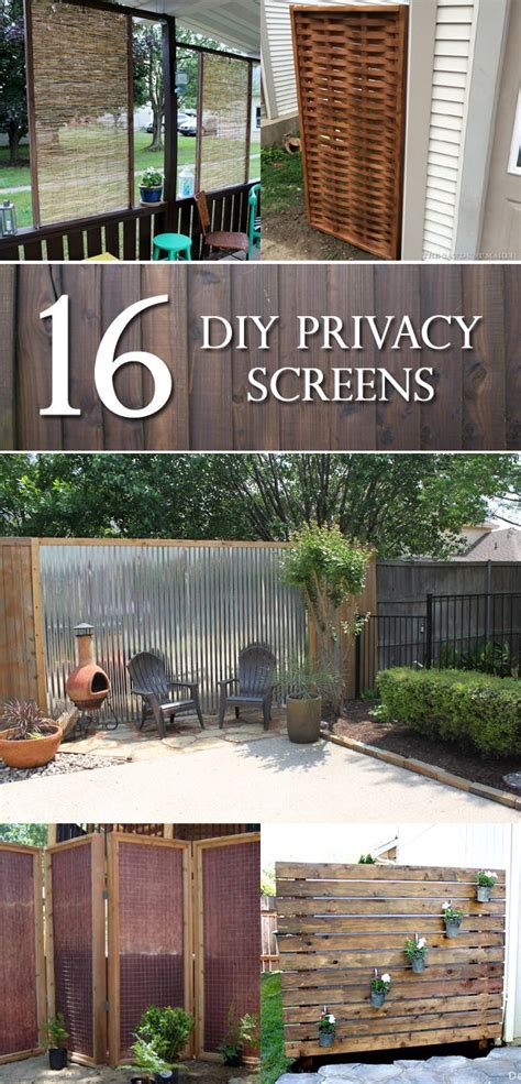 Backyard Screening Options by 16 Diy Privacy Screens That Will Make Your Space More
