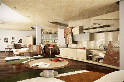 Modern Interior Render in Mental Ray: Apartment render in