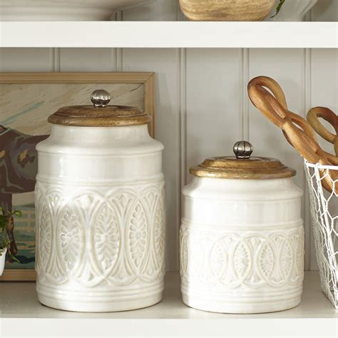 Style Kitchen Canister Sets by Ivory Farmhouse Canisters