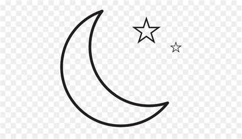 crescent moon drawing png
