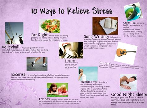 10 Ways To Relieve Stress  How To Relieve Stress  Pinterest Exercises