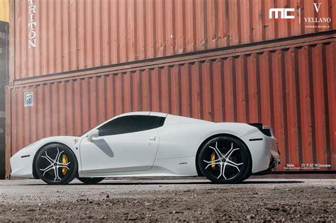 ferrari 458 wheels white ferrari 458 spider with colour matched vellano