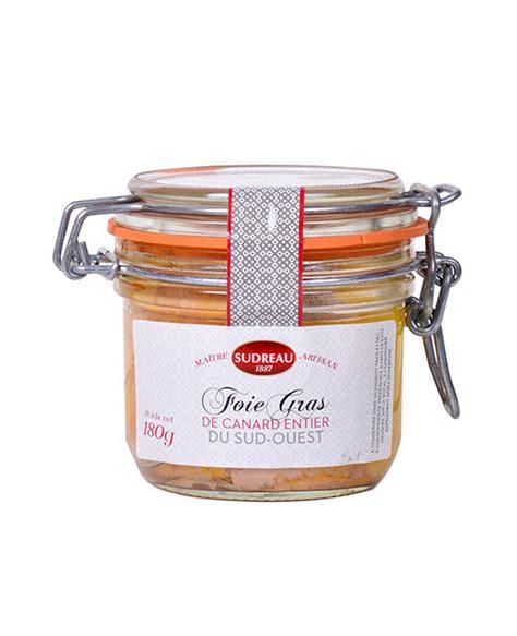 cuisiner canard entier foie gras de canard entier 180 g sudreau edélices