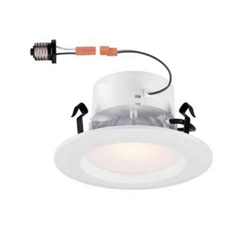 commercial electric 4 in white led recessed trim