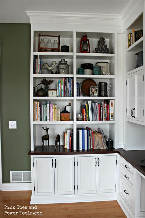 Dining Roomhome Office {styled Bookshelves}  Pink Toes