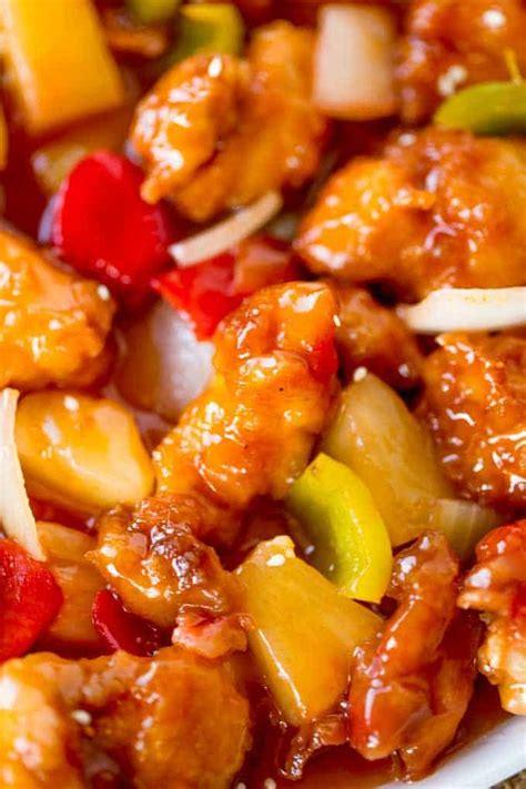 sweet  sour chicken popular recipe dinner