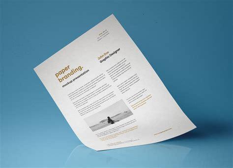 flyer resume paper mockup psd good mockups