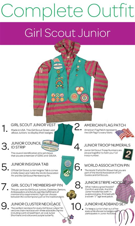 girl scouts  nassau county  complete outfit series