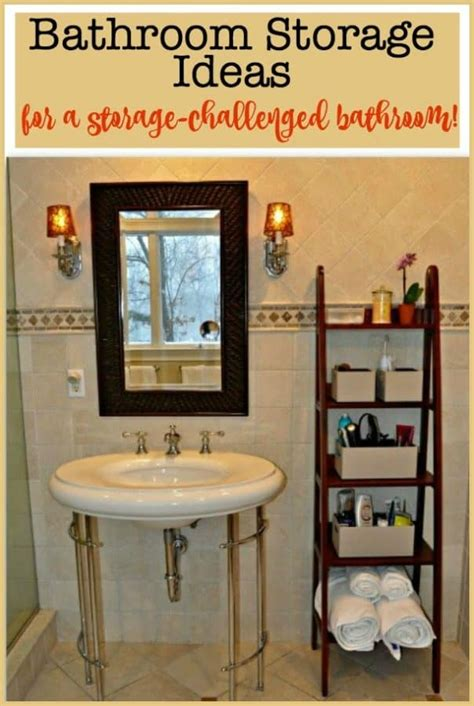 Bathroom With No Storage Ideas by Bathroom Storage Ideas For A Storage Challenged Bathroom
