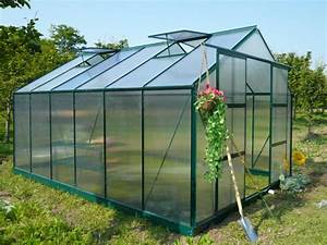 Serre Jardin Polycarbonate 13m KALIDA Avec Embase En Acier
