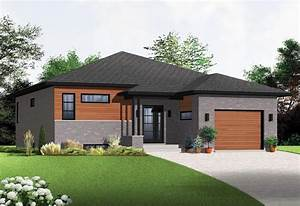 Modern Style House Plan 76356 With 1283 Sq Ft  2 Bed  1 Bath