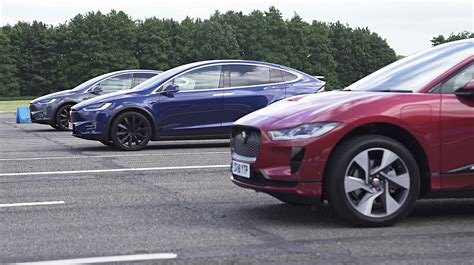 Tesla Model X Faces Off With Jaguar Ipace In Standing