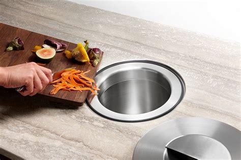 kitchen design idea include  trash chute   counter