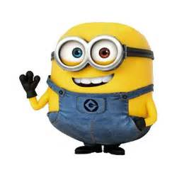 despicable me bob is a short plump and bald minion with multi colored eyes green and brown