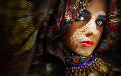 Colorful Woman Wallpapers Faces Multicolor Jooinn Wallpapername