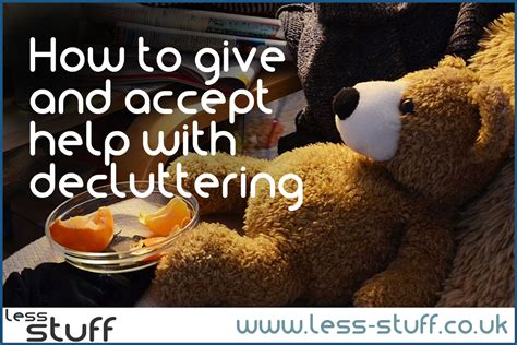 How To Give And Accept Help Decluttering