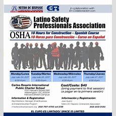 Osha 10 Hours For Construction  Spanish Course