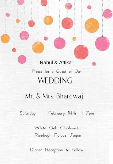 wedding wording samples  ideas  indian wedding