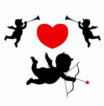 Cupid Vector Clipart Silhouette Angels Clip Angel
