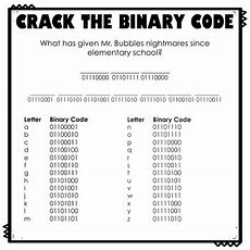 Crack The Binary Code School Worksheets By Thweatthearts Tpt