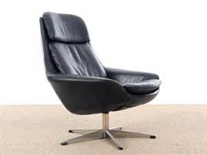 Fauteuil Pivotant Cuir Noir by Danish Mid Century Modern Swivel Lounge Chair Galerie M 248 Bler