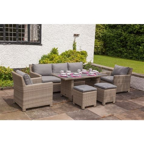 settee dining set buy amir royalcraft wentworth rattan sofa dining set