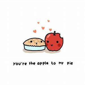 apple, apple pie, cartoon, cute, drawings, food - image ...
