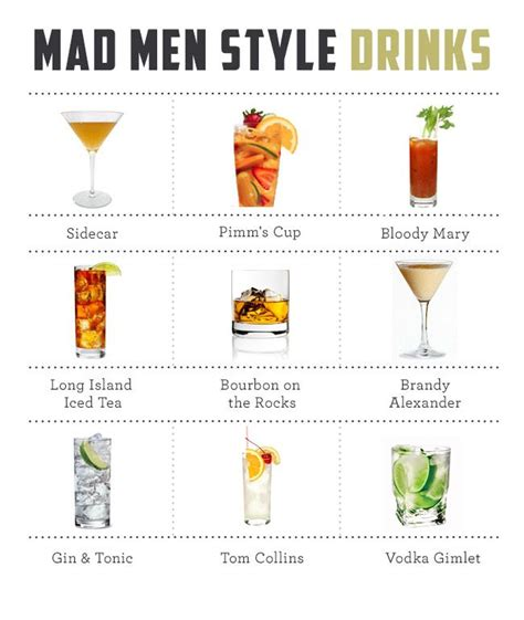 Mad Men Cocktail Guide And Drink Recipeswhere's The Old