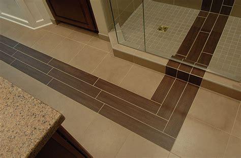 contemporary bathroom remodel  unique inset tile