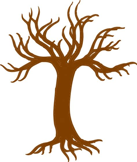 Tree Trunk And Roots Template by Bare Tree With Roots Clip Art At Clker Vector Clip