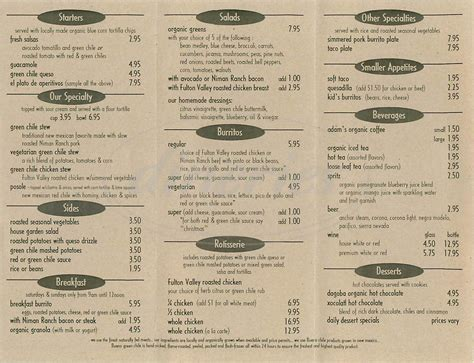 green bar and kitchen menu green chile kitchen menu san francisco dineries 6930