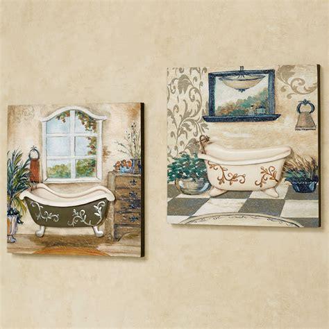 salle de bain bathroom wall art set