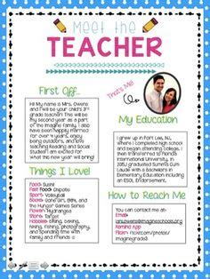 meet the teacher letter i m going to quickly post and run just wanted to post my letter it s simple but kinda