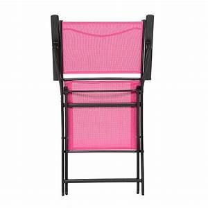 Salon De Jardin Pliant : fauteuil de jardin pliant modula framboise noir chaise ~ Dailycaller-alerts.com Idées de Décoration