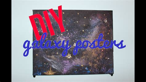 diy galaxy posters youtube