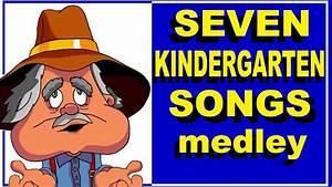 Seven kindergarten songs ( medley) with Lyrics - YouTube