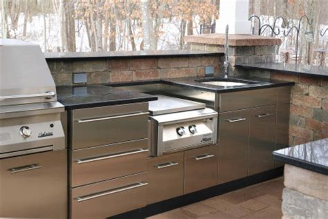 stainless outdoor kitchen cabinets stainless steel outdoor kitchens steelkitchen 5713