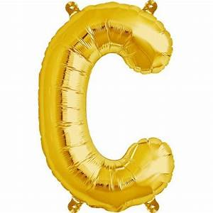 letter c foil balloon small foil balloons shindigscomau With small gold letter balloons