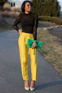 M.A.C.K BEAUTY AND FASHION FASHION FRIDAY HOW TO WEAR YOUR YELLOW PANT