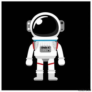"""""""Vector Astronaut, Space suit isolated on Black Background ..."""