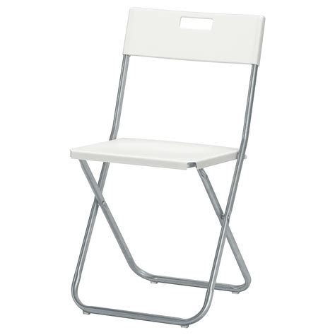 chaise solide gunde folding chair white ikea